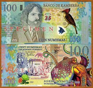 SPECIMEN, Kamberra, 100 Numismas, 2013, UNC > Commemorative, Limited Issue