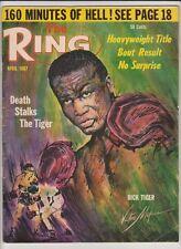 THE RING MAGAZINE DICK TIGER BOXING HOFer COVER APRIL 1967