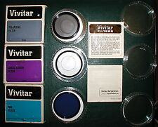 Vivitar 55mm Filter's;(3)in box' Polarizing,Cross Screen,80B cool,Canon,FREE S/H