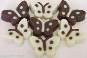 50 Hand-made Belgian Chocolate Dotty Spotty Butterflies
