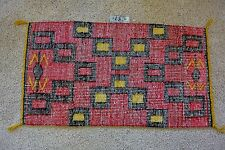 X-L Navajo Rug COAL MINE MESA RAISED OUTLINE VG Cond. Cleaned & Moth Proofed!
