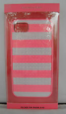 NIB Victoria Secret's Pink Case For iPhone 4/4S Pink & White Sequined Stripes
