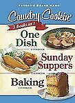 3 Country Cooking Cookbooks in 1: One Dish; Sunday Suppers; Baking (Favorite Bra
