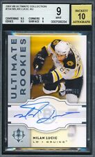 BGS 9 Mint 2007-08 Ultimate Collection MILAN LUCIC Auto Rookie RC  /399