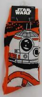 Loot Crate Exclusive Star Wars BB-8 Droid Orange Mens Crew Socks New Lootcrate