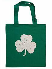Shamrock Tote Bag Distressed Design 100% Cotton Canvas Kelly Green
