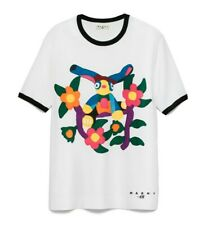 MARNI FOR H&M RARE WHITE COTTON RAINBOW FLORAL TEE SMALL UK 8-10 EU 34-36 BNWT
