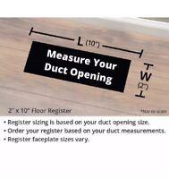 "Accord Ventilation Brown Steel Floor Register (Duct Opening: 2"" x 10"") FSTSHP"