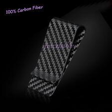Hot 100% Carbon Fiber Money Clip Holder Business Credit Card Cash Wallet