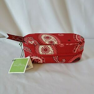 Vera Bradley Zip Sunglass Case Mesa Red Paisley New With Tags