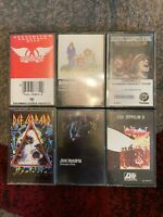 Rock Cassette LOT - Aerosmith - America - CCR - Jimi Hendrix - Led Zeppelin II