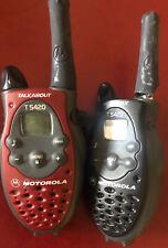 Motorola TALKABOUT T5420 2-Way Radio Walkie Talkies Battery Operated Lot of 2