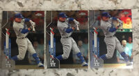 2020 Topps Chrome Mookie Betts 3 Card Lot Refractor + 2 Base Cards Dodgers