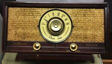 Antique Nice Wood AM Philco Power Tone Twin Speaker, Tube Radio.