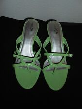 Women's East 5th Green Slide on Heel Sandals Size 7M FREE SHIPPING!