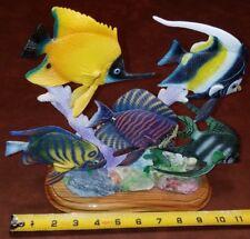 Tropical Fish Scene Statue