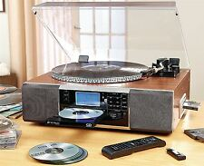 Neostar CD Recorder Turntable Vinyl Tape Radio MP3 USB Bluetooth Player System
