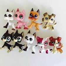 2pcs LPS Toys Random Littlest Pet Shop Great Dane Dog Collie Short Hair Cat