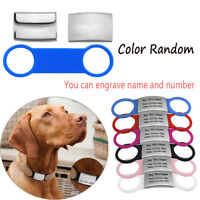 Dog Cat ID Tag Stainless Steel Pet Nameplate Tags Customized Tensile Rubber---