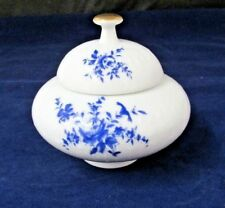EDE43 by Edelstein Blue Rose Sugar Bowl w/ Lid