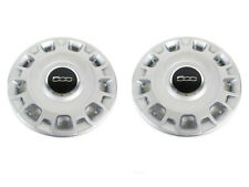 "2012-2017 FIAT 500 15"" STEEL WHEEL SILVER HUB CAP COVERS PAIR NEW MOPAR GENUINE"