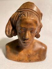 Mid-Century Female Tribal Bust Sculpture