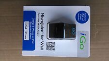 iGO 2 Port USB Wall Charger 2.1A for iPad 1,2,3 - Charge and Snyc Cable Included