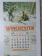 Winchester Firearms Advertising Poster,A.B. Frost Hunting 1898 Calendar No Pad