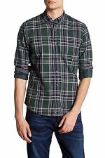 Scotch and Soda Woven Check Long Sleeve Classic Fit Green Dress Shirt Size L NEW
