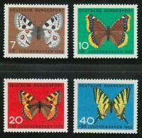 West-Germany 1962 Butterflies Semi-Postal compl Set # B380/B383 B380 B383 - MNH