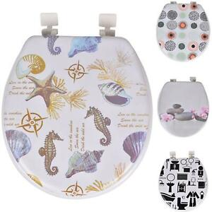 "17"" Toilet Seat Padded Soft Printed With Strong Universal Fittings Easy Clean"