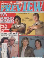 JULY/AUG 1979 PREVIEW vintage movie magazine DUKES OF HAZZARD - CHIPS - ESTRADA