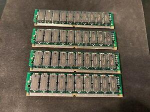 4x 32MB 8Mx40 ECC 72-pin 60ns FPM Parity SIMM Memory 128MB PC RAM Parity