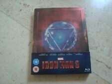 IRON MAN 3 rare OOP ZAVVI exclusive DEBOSSED Blu-Ray SteelBook Robert Downey jr.
