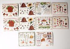 "Susan Branch Sticker Lot 10 Sheets Garden Earth Bees Picnic Friends 4.5"" x 5"""