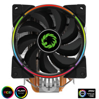Game Max Gamma 500 Rainbow ARGB CPU Cooler Aura Sync for Intel and AMD