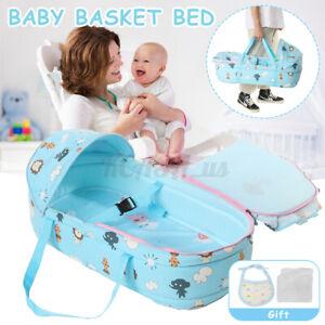 Safe Newborn Travel Bed Bassinet Carrier Cradle With Hood Baby Moses Basket US