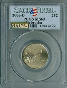 2006-D NEBRASKA QUARTER PCGS MS69 SF PQ MAC FINEST MAC SPOTLESS *