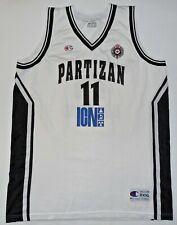 Partizan Belgrade Champion Basketball Jersey Shirt FIBA Serbia Match Worn