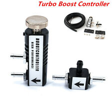 Universal Car 1-30PSI Adjustable Manual Turbo Boost Controller Bleed Valve Black