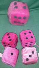 Lot of 5 pink plush dice