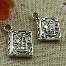 Free Ship 120 pieces tibetan silver book charms 17x13mm #1744