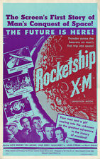ROCKETSHIP X-M (1950) AKA EXPEDITION MOON • Benton Window Card • Creased, Bright