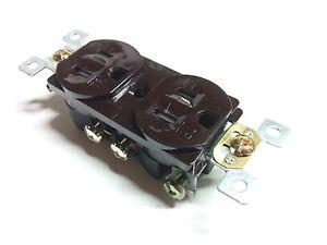 50 pc 15A Standard Duplex Receptacles 15 Amp Tamper Resistant TR Outlets BROWN