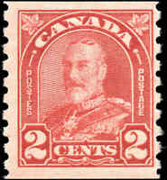 Mint H Canada 1930 2c Coil F+ Scott #181 King George V Arch-Leaf Issue