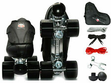 Epic Evolution Quad Roller Speed Skates with Removable Flap 7pc Bundle w/ Bag