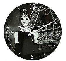 Orologi da parete analogici ovale in vetro