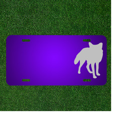 Custom Personalized License Plate With Add Names To Fox Canine Animal Mammal