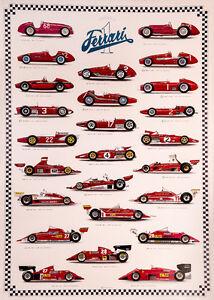 Ferrari classic F1 Race poster print