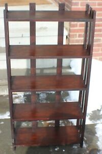 Antique Mission Bookcase Stickley Roycroft Era Unmarked c. 1915